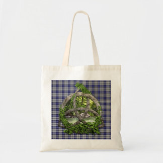 Clan Napier Tartan Celtic Trinity Tote Bag