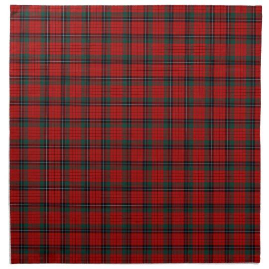Clan Nicolson Red and Black Scottish Tartan Cloth Napkins