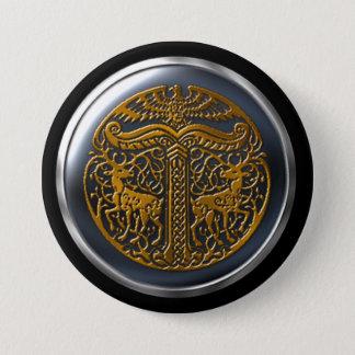 Clan of Danu Bronze Warrior Shield 3 Inch Round Button