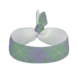 Clan Oliphant Scottish Blue Green Tartan Elastic Hair Ties