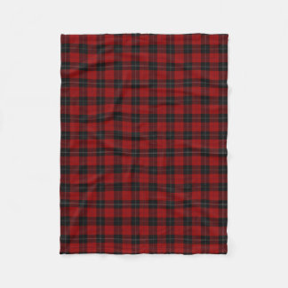 Clan Ramsay Ramsey Red and Black Tartan Fleece Blanket
