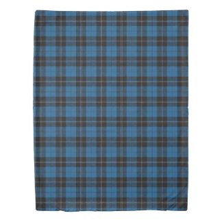 Clan Ramsay Scottish Accents Blue Black Tartan Duvet Cover