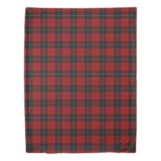 Clan Ramsay Scottish Accents Red Black Tartan Duvet Cover