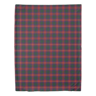 Clan Rattray Scottish Accents Green Red Tartan Duvet Cover