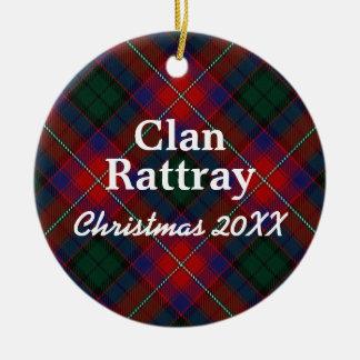 Clan Rattray Scottish Tartan Ceramic Ornament