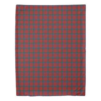 Clan Robertson Scottish Accents Red Green Tartan Duvet Cover