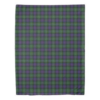 Clan Rose Scottish Hunting Blue and Green Tartan Duvet Cover
