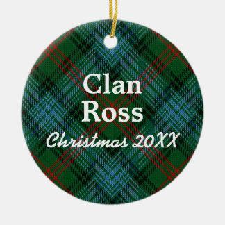Clan Ross Scottish Tartan Ceramic Ornament