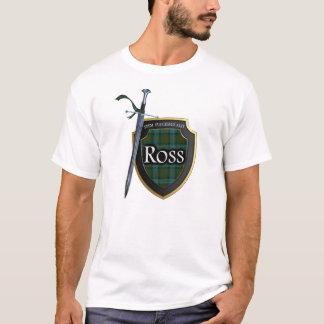 Clan Ross Tartan Scottish Shield & Sword T-Shirt
