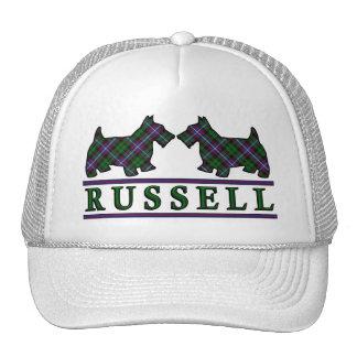 Clan Russell Tartan Scottie Dogs Trucker Hat