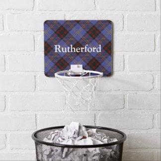 Clan Rutherford Tartan Customize Name Mini Basketball Backboard