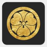 Clan samouraï japonais de Sakai lundi Sticker Carré