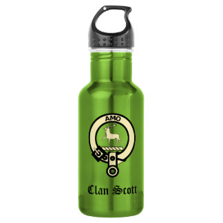 Clan Scott Crest Badge 532 Ml Water Bottle