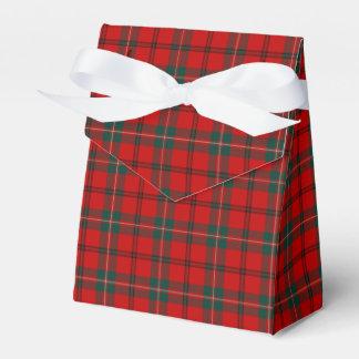 Clan Scott Red and Green Scottish Tartan Favor Box