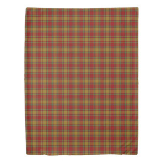 Clan Scrymgeour Scottish Accents Red Orange Tartan Duvet Cover