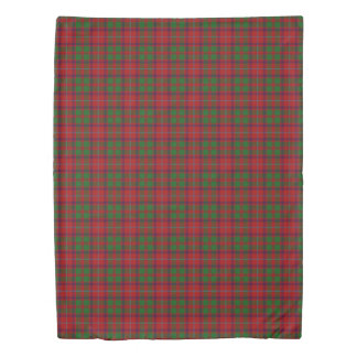 Clan Shaw Scottish Accents Red Green Tartan Duvet Cover