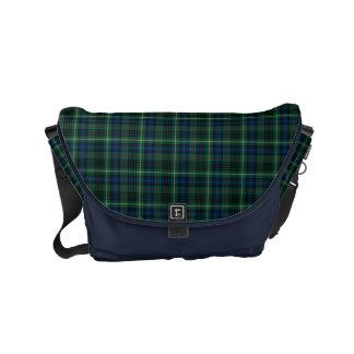 Clan Stewart Green Scottish Hunting Tartan Messenger Bag
