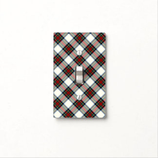 Clan Stewart Red and White Dress Tartan Light Switch Cover