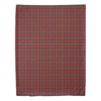 Clan Stewart Scottish Accents Red Green Tartan Duvet Cover