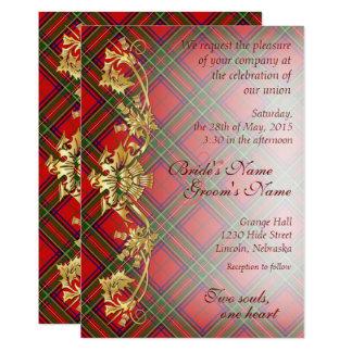 Clan Stewart Tartan & Thistles Wedding Invite 2