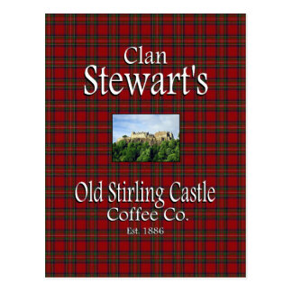 Clan Stewart's Old Stirling Castle Coffee Co. Postcard
