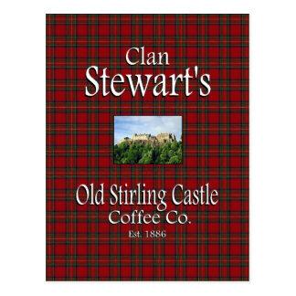 Clan Stewart's Old Stirling Castle Coffee Co. Postcard