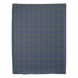 Clan Strachan Scottish Accents Green Blue Tartan Duvet Cover