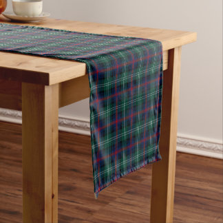 Clan Sutherland Green and Blue Scottish Tartan Short Table Runner