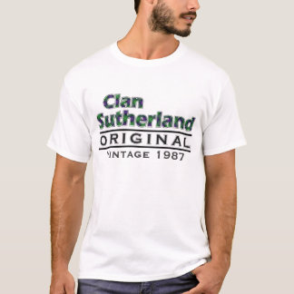 Clan Sutherland Vintage Customize Your Birthyear T-Shirt