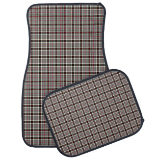 Clan Thompson Gray, Black and Red Scottish Tartan Car Floor Carpet