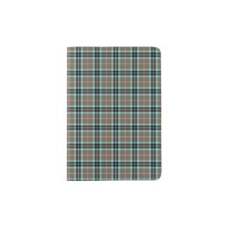 Clan Thompson Hunting Tartan Light Brown and Blue Passport Holder