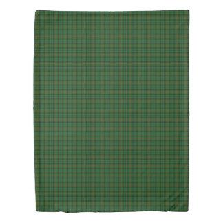 Clan Urquhart Scottish Accents Black Green Tartan Duvet Cover