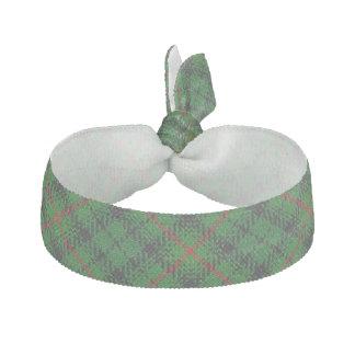 Clan Urquhart Scottish Accents Green Black Tartan Hair Tie