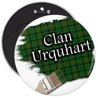 Clan Urquhart Tartan Paint Brush 6 Inch Round Button