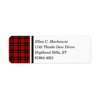 Clan Wallace Red and Black Scottish Tartan