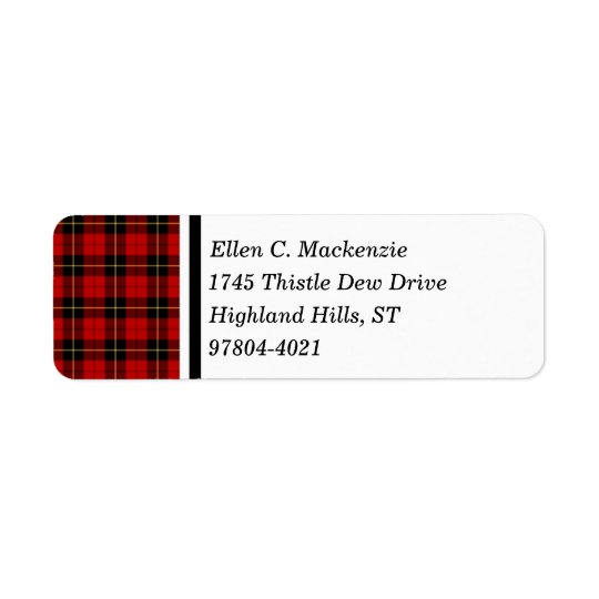 Clan Wallace Red and Black Scottish Tartan