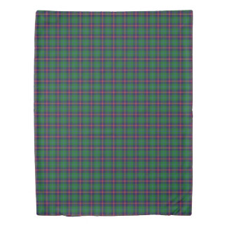 Clan Young Scottish Accents Blue Green Tartan Duvet Cover
