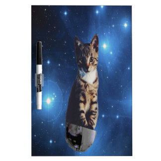 Clancy the Space Cat Dry-Erase Board