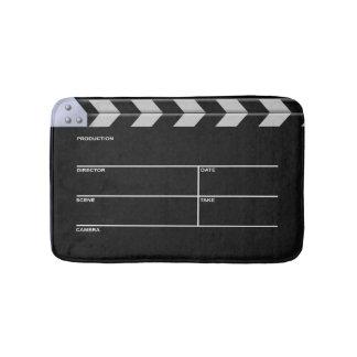 Clapboard cinema for action bath mat
