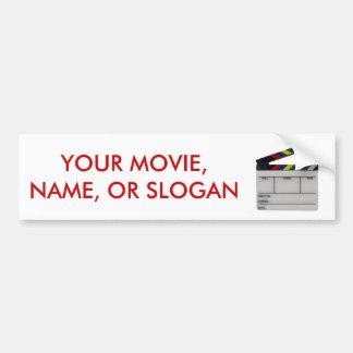 Clapboard movie filmmaker slate bumper sticker
