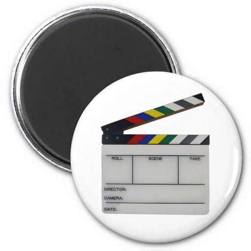Clapboard movie filmmaker slate refrigerator magnet