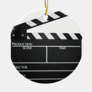 Clapboard movie slate clapper film ceramic ornament