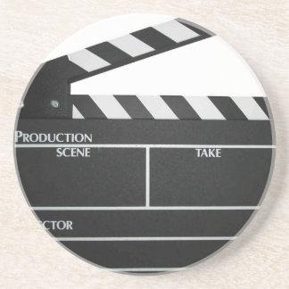 Clapboard movie slate clapper film coaster