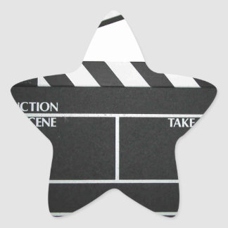 Clapboard movie slate clapper film star sticker