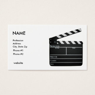 Clapboard, NAME, Profession, Address, City, Sta... Business Card