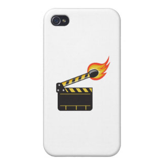 Clapper Board Match Stick On Fire Retro Covers For iPhone 4