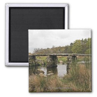 Clapper Bridge In Dartmoor National Park Magnet