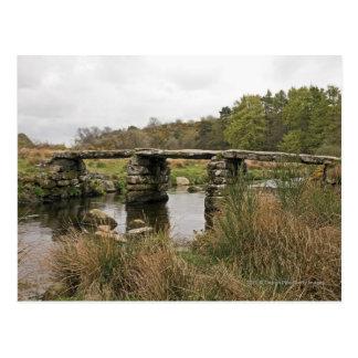 Clapper Bridge In Dartmoor National Park Postcard