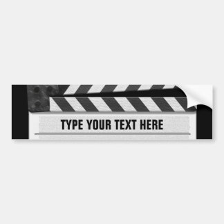 Clapperboard bumper sticker with your text