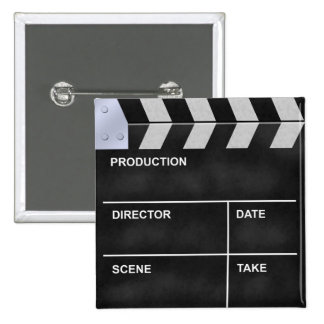 clapperboard cinema 2 inch square button